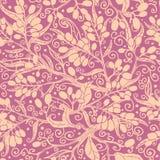 Buckthorn berries seamless pattern background Stock Image