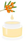 The buckthorn cream Stock Images