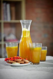 Buckthorn drink and cookies stock image