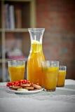 Buckthorn drink and cookies Stock Image