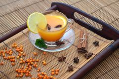 Buckthorn herbaciana filiżanka Fotografia Stock