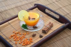 Buckthorn herbaciana filiżanka Zdjęcia Stock