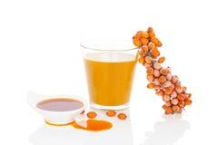 Buckthorn juice. Stock Images