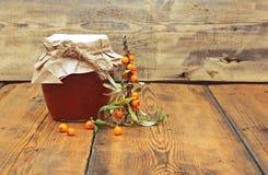 Buckthorn juice with sugar Stock Photo