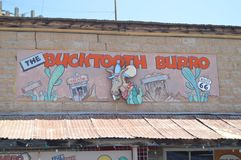 The Bucktooth Burro Saloon Oatman Route 66. Beautiful Restaurant To eat. June 21, 2017. Oatman, Arizona, USA, EEUU royalty free stock photos