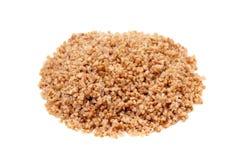Buckwheat. Organic cooked buckwheat isolated on white Stock Photos