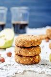 Buckwheat apple banana hazelnut dates vegan cookies Royalty Free Stock Photos