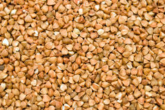 Buckwheat background. Horizontal brown buckwheat seed background royalty free stock image