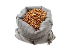 Buckwheat in the bag Stock Image