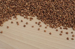 Buckwheat on the board Royalty Free Stock Photo