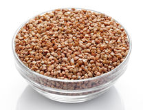 Buckwheat in bowl Royalty Free Stock Photo