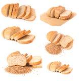 Buckwheat bread collage Stock Photo