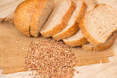 Buckwheat bread Stock Photography