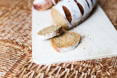 Buckwheat bread on the wooden Board Royalty Free Stock Photo