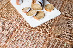 Buckwheat bread on the wooden Board Royalty Free Stock Images