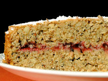 Buckwheat cake with cranberry Royalty Free Stock Photography