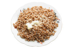Free Buckwheat Cereal With The Cow Oil Stock Photos - 8003723