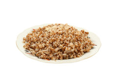 Buckwheat Cereal With The Cow Oil Stock Images