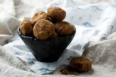 Buckwheat chocolate cookies Stock Images