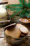 Buckwheat Christmas cookies Royalty Free Stock Photography
