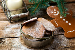 Buckwheat Christmas cookies Royalty Free Stock Image