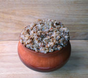 Buckwheat in the clay pot Stock Photography
