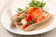Buckwheat crepe royalty free stock photos