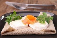 Buckwheat crepe with cheese Stock Photo