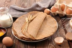 Buckwheat crepe, gluten free royalty free stock photo