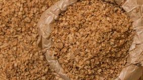 Buckwheat flakes Royalty Free Stock Photo