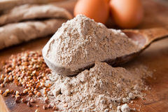 Buckwheat flour Stock Image