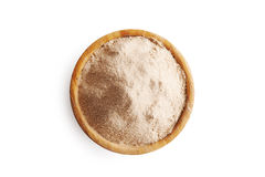 Buckwheat flour in bowl Royalty Free Stock Photo