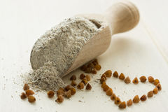 Buckwheat flour Royalty Free Stock Photos