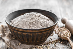 Buckwheat flour Royalty Free Stock Image