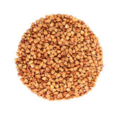 Buckwheat in the form of a circle. Stock Image