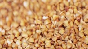 Buckwheat in glass jar stock footage