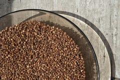 Buckwheat on a Glass Plate Stock Photos
