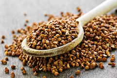 Buckwheat grain Stock Photos