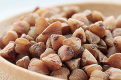 Buckwheat grain closeup Stock Photography