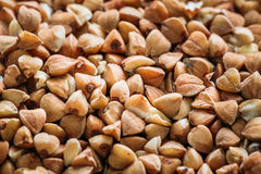 Buckwheat Grains Background, Texture. Healthy Food Royalty Free Stock Image