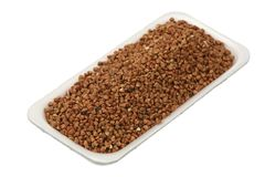 Buckwheat groats Stock Images