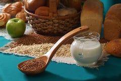 Buckwheat groats Stock Photos