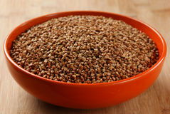 Buckwheat groats in a bowl Royalty Free Stock Image