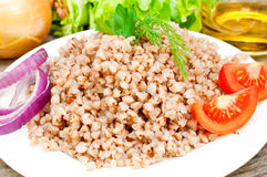 Buckwheat groats in a bowl Royalty Free Stock Images