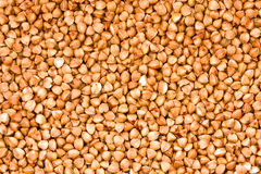 Buckwheat groats, close up, background Royalty Free Stock Photos