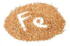 Buckwheat Groats – Good Source of Iron (Fe) Stock Images