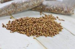 Buckwheat groats Royalty Free Stock Photo