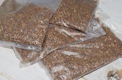 Buckwheat groats Stock Photo