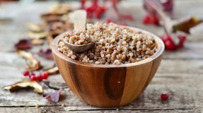 Buckwheat groats Stock Photos