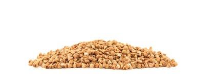 Buckwheat handful isolated. On white background Stock Photos